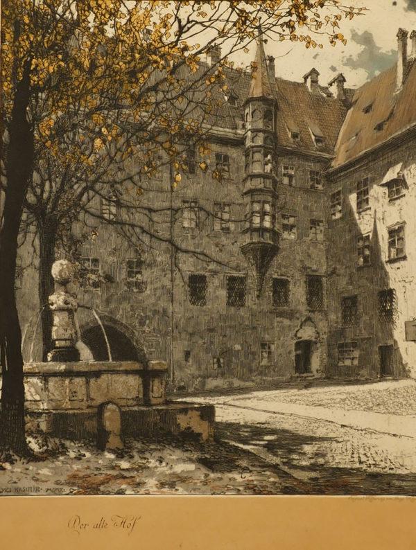 """Stich """"Alter Hof, München"""""""