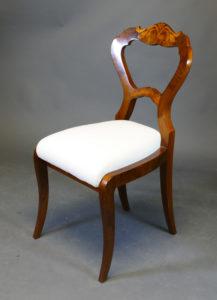 Satz von 6 Biedermeier-Stühlen, um 1830
