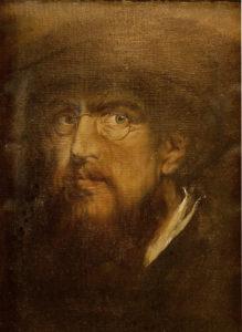 Franz von Lenbach, Selbstbildnis, um 1860/70
