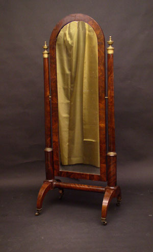 spiegel psyche empire standspiegel mainz um 1805 15. Black Bedroom Furniture Sets. Home Design Ideas