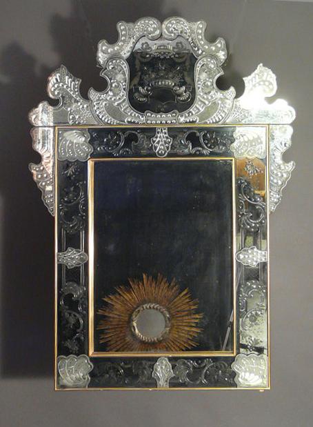 Spiegel, Murano, im Stil des 18. Jhdts.